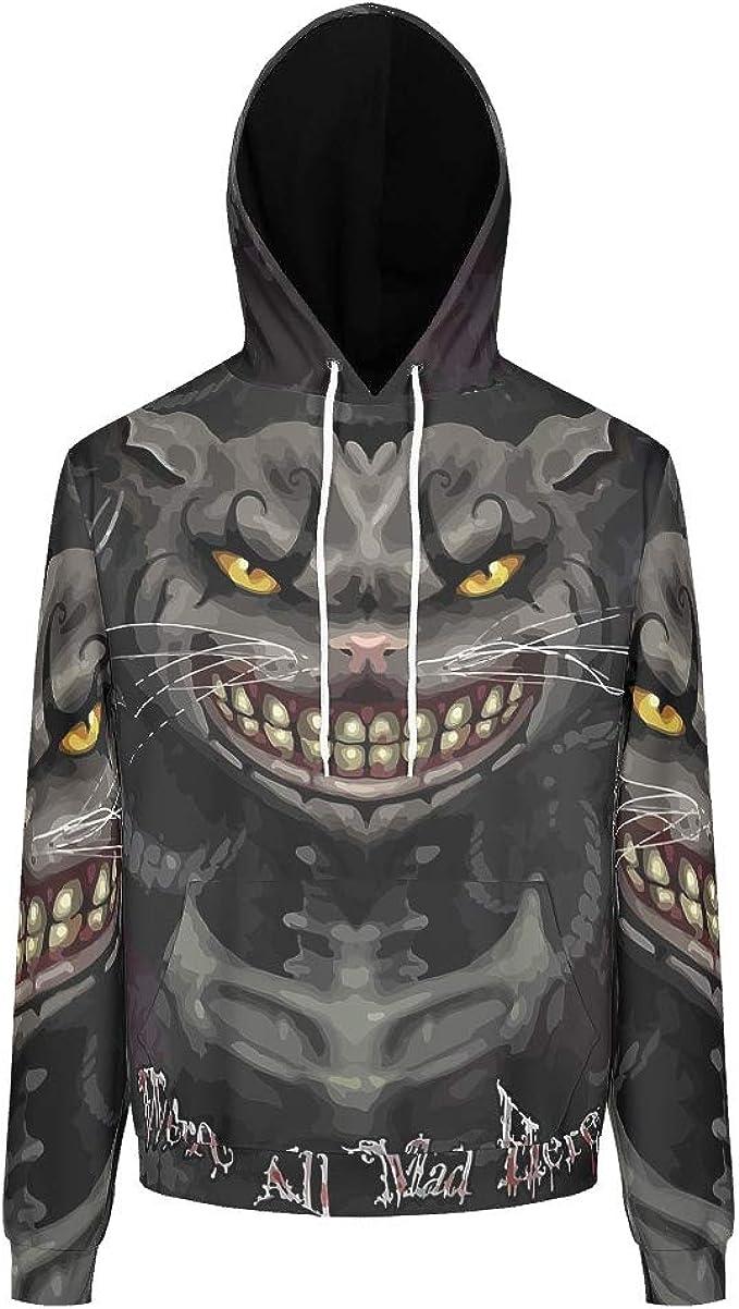 CATNEZA Mad Cat Theme - Sudadera unisex con capucha de manga ...
