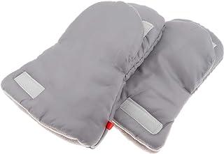Perfeclan Bomull barnvagn hand muff vinter varma handskar, barnvagn eller joggare tjocka plyschvarma handskar vind- barnva...