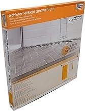 "Schluter Kerdi 76"" x 38"" Linear Shower Tray Wall Drain Placement 1-5/8"" End Height"
