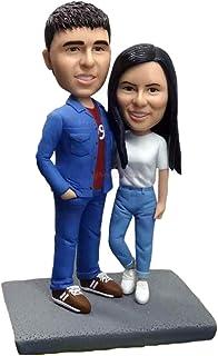 coppia braccio in braccio figurine amanti regali figura scultura statuetta figurine bambolina personalizzate da foto decor...