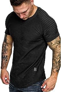 NREALY Camisa Men Summer Pleats Gradient Pattern Casual Fashion Lapel Short Sleeve Shirt