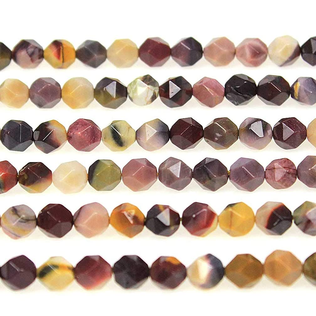 MJDCB Best Sellers Natural Stone Beads Faceted Polygon Moonkaite Jasper Crystal Energy Stone Healing Power for Jewelry Making(8mm)