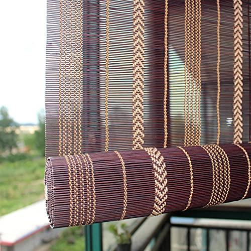 Bambú al Aire Libre enrolle Las persianas - Tonos de Rodillo de Filtro Ligero para Windows / Patio / Porche / Pérgola / Deck / Gazebo / Puertas / Puerta francesa-140x120cm