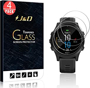 J amp D Confezione pellicole proteggi schermo vetro temperato per Garmin Forerunner 945 Tri-Bundle  copertura totale  proteggi schermo vetro per Garmin Forerunner 945 Tri-Bundle Packs