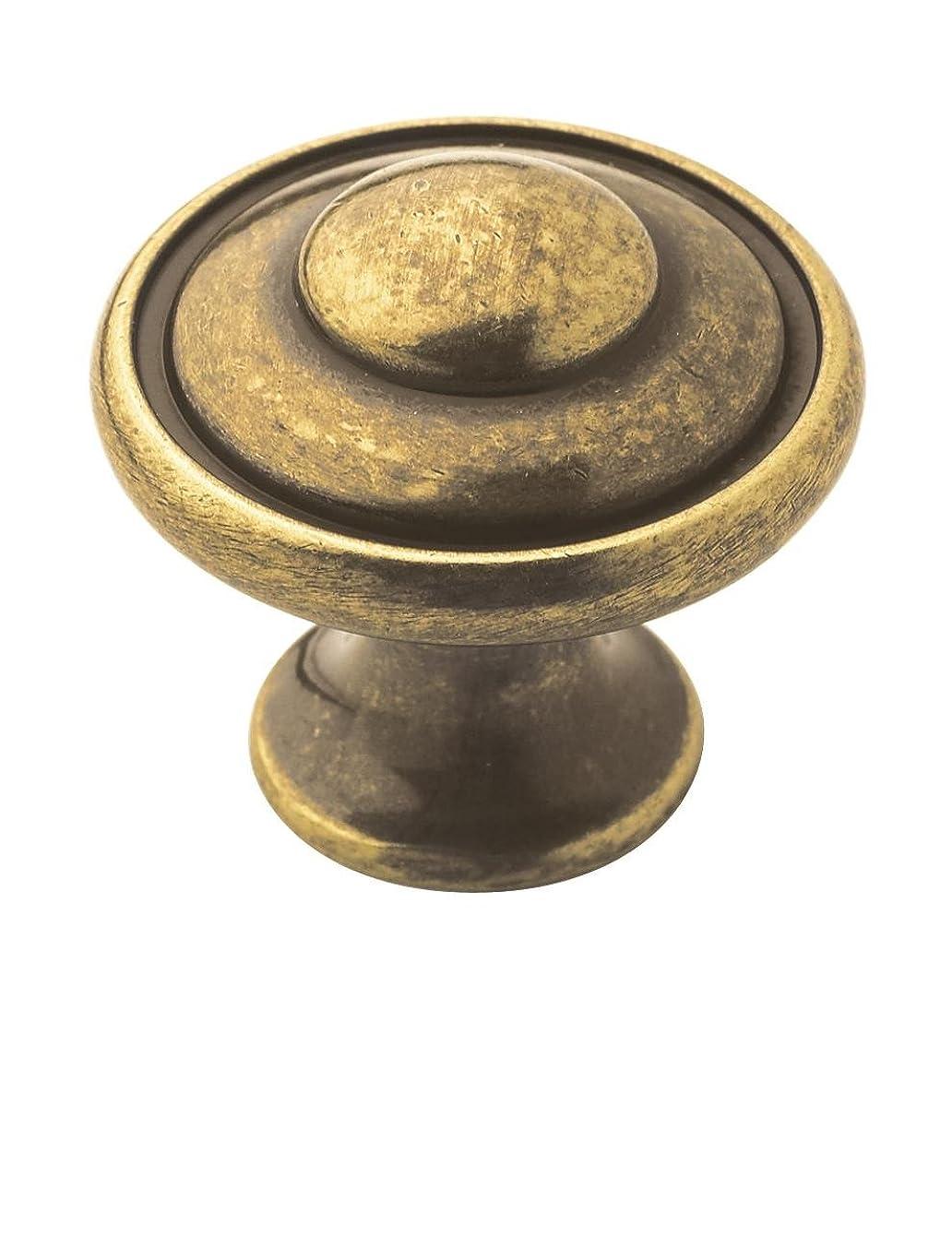 Amerock BP53002BB Allison Value 1-3/16 in (30 mm) Diameter Burnished Brass Cabinet Knob