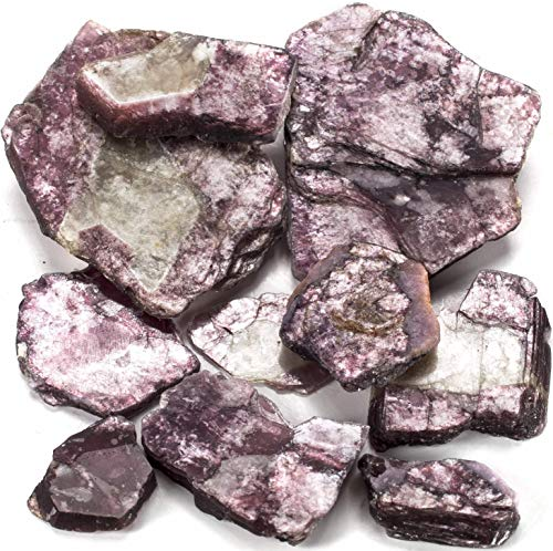 Kalifano Lepidolite Pack With Healing &Amp; Calming Effects - High Energy Reiki Crystal Used For Soothing Anxiety And Stability (Information Card Included)