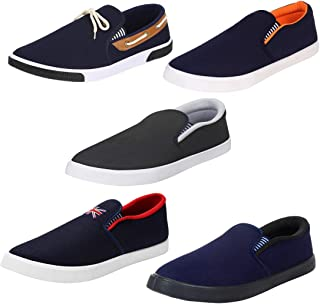Bersache Combo Pack of 5 Stylish & Designer Loafer & Moccasins Shoes for Men