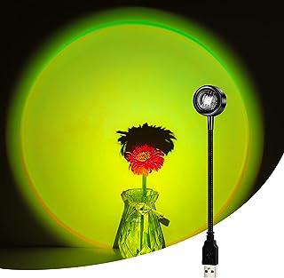 Sunset lamp LED, lampe coucher de soleil, sunset projection lamp, USB lumière de arc-en-ciel, décoration visuelle romantiq...