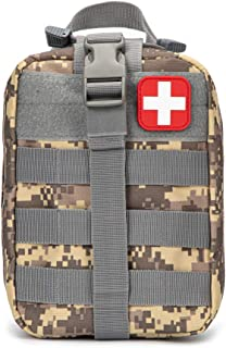 Jipemtra Tactical First Aid Bag MOLLE EMT IFAK Pouch Rip-Away Trauma First Aid Responder Medical Emergency Utility Bag Military Tactical Pouch