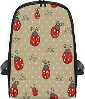 ZZXXB Ladybug Polka Dot Backpack Kids Toddler Child Preschool Kindergarten Waterproof Book Bags Travel Daypack for Boys and Girls