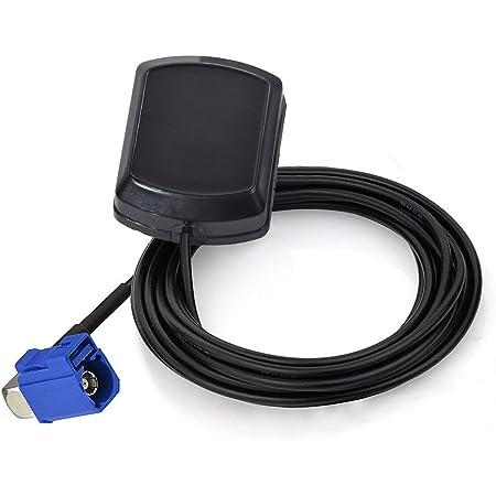 Eightwood Antena GPS Coche Adaptador Fakra C en ángulo Recto con Antena Fakra GPS 3m para Golf Sistema de navegación GPS Receptores GPS para automóviles Módulo de Seguimiento de Antena GPS
