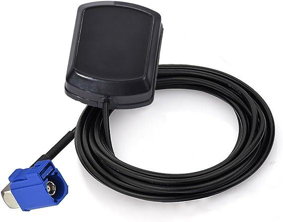 Eightwood Antena GPS Coche Adaptador Fakra C en ángulo Recto con Antena Fakra GPS 3m para