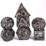 Schleuder D&D Dadi Set, 7 Poliedrici Dice da Gioco per Dungeons&Dragons, Set Dadi Metallo ...