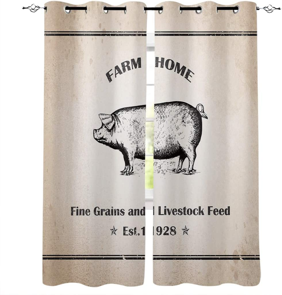 HomeDecorArt Vintage Farm 2020新作 Themed Feed for Win Pigs Livestock スーパーセール and