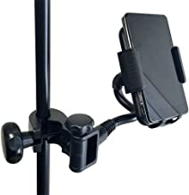 Accessory Basics Music Mic Microphone Stand Smartphone Mount w/Multi Angle 360° Swivel Adjust Holder for Apple iPhone 11 XR XS MAX X 8 Plus Samsung Galaxy S10 S9 Note Google Pixel XL LG V30 Phones