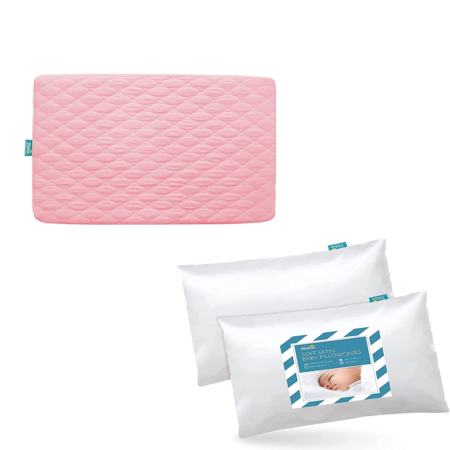 Pack At the price n Online limited product Play Sheet Quilted Waterproof Satin K Protector with Pink
