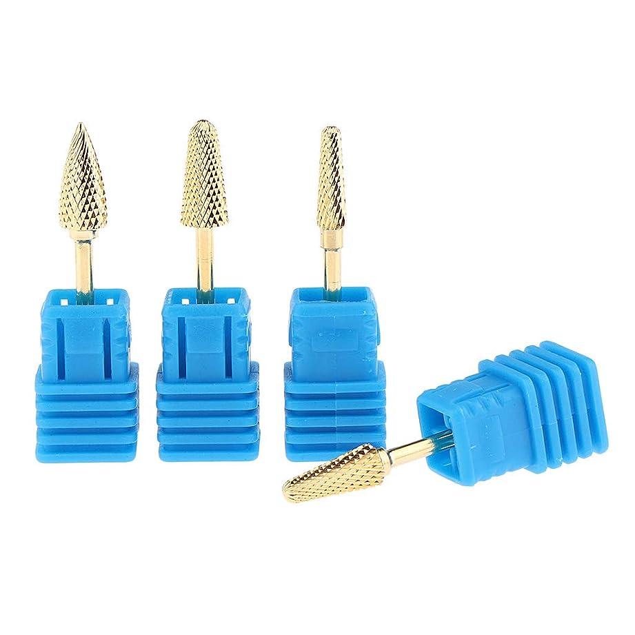 ラッシュコークス効果的にB Baosity 4個 ネイルドリルビット 研削ヘッド 交換用品 ネイル道具 ネイルサロン