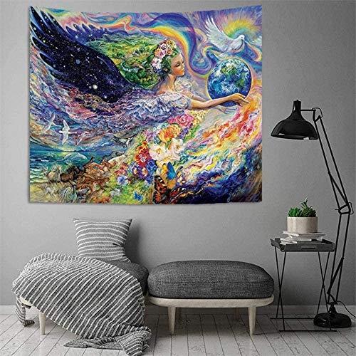 Arazzo appeso a parete letto telo mare tovaglia tappetino yoga decorazione della casa stile retrò design rettangolo 150x100 cm