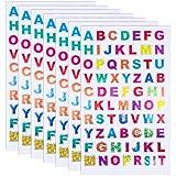 QINREN 60 Blätter Buchstaben Aufkleber Klebebuchstaben Glitzer Buchstaben Selbstklebend für Scrapbooking oder Verschönerung