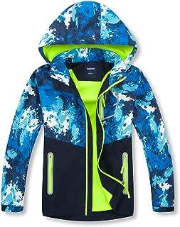 Boys Girls Outdoor Waterproof Rain Jackets Hooded Raincoats Zipper Packaway Windbreakers for Kids Clothes