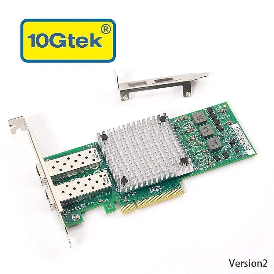 ドーム処方シダ10Gネットワークカード Broadcom BCM57810S 純正ボード(チップ)実装, デュアルSFP+ポート, PCI-E2.0X8, PCサーバ用
