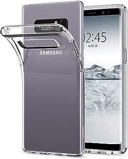 Spigen Liquid Crystal Serisi Kılıf Galaxy Note 8 ile Uyumlu / 4 Tarafı Tam Koruma - Crystal Clear