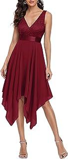 Ever-Pretty Womens Deep V Neck A Line Lace Chiffon Cocktail Dress 0207