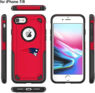 iPhone 7 Tough Electroplate Case, 3 in 1 Ultra-Thin Smooth Anti-Scratch PC Hard Back Case Full Cover for iPhone 7- Red