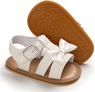 GorNorriss Baby Girl Shoes Infant Beach Leather Rubber Sole Summer Sandals First Walkers Shoes