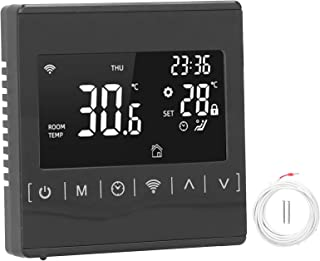 Floor Heating Thermostat, Durable WiFi Thermostat, WiFi Smart Temperature Control, for Electric Heating Belt, Electrotherm...