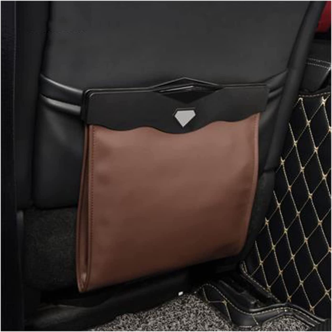 WERTYU Leather Car Garbage Can Trash Our shop OFFers the best service Mesa Mall Collapsible Waterp Bag Auto