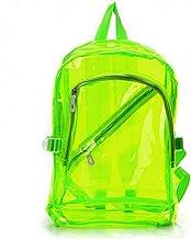 YYGIFT Transparent Plastic PVC Backpacks Clear Schoolbags Outdoor Shoulders Bag for Teens Men Women