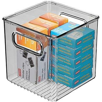 mDesign Caja de almacenaje para DVDs o CDs – Porta CD y DVD – Cajas de plástico de color negro – Caja organizadora para Blu-ray y videojuegos: Amazon.es: Hogar