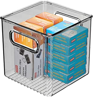 mDesign boite stockage pour la cuisine, salle de bain, bureau – boite rangement en plastique avec poignées intégrées – boi...