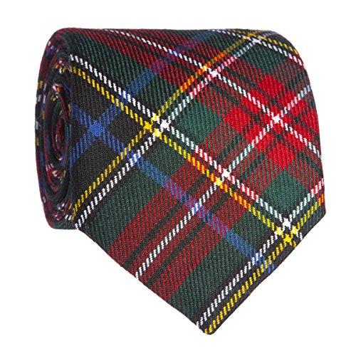 Cravate en laine en tartan Stewart Black