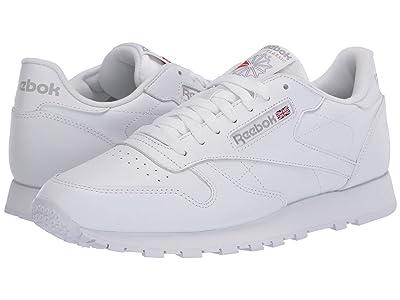 Reebok Lifestyle Classic Leather (White/White/Light Grey) Men