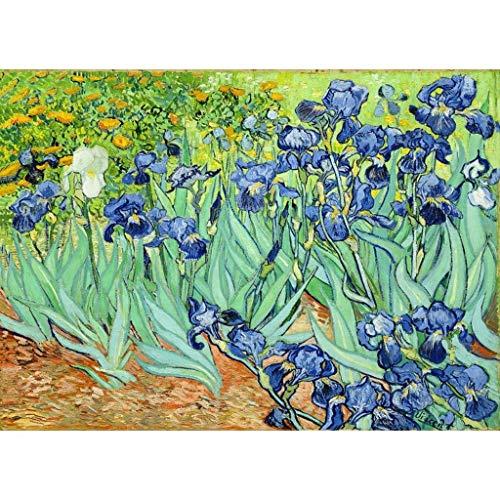 Kinderpuzzle-Stichsäge PT Basswood Puzzle, Van Gogh Serie Badan Aprikose Iris-Blumen-Weizen-Feld Lila, Perfekter Cut & Fit 300~1000pc Boxed Stichsäge Spiel for Erwachsene & Kinder