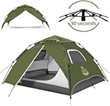 DEERFAMY Pop Up Tents 3-4 Person, Tent Pop Up Instant 4 Person for Camping, Automatic Tent, Dome Tent for Family Beach Outdoor (Green/Blue)