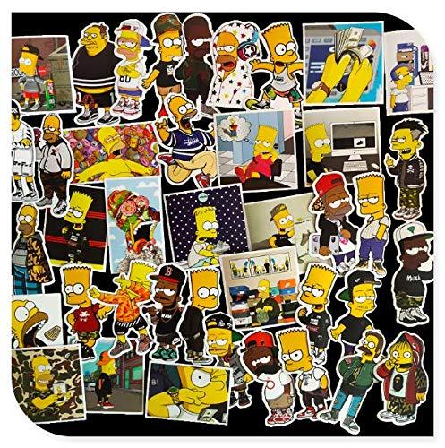 Tide Brand Graffiti Simpson Stickers Luggage Laptop Guitar Panel Creative Decoration Stickers 50 Sheets
