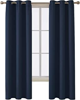 Deconovo Room Darkening Thermal Insulated Blackout Grommet Window Curtain for Bedroom, Navy Blue, 42x84 Inch, 1 Panel