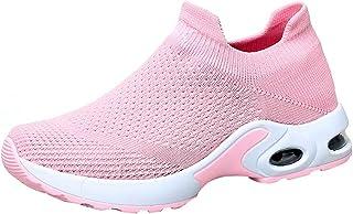 Zapatillas Deportivas Correr Mujer Zapatillas Unisex Adulto Zapatos para Caminar Sneakers Gimnasio Aumentar Más Altos Casual Mesh Antideslizante Running Transpirable Primavera/Verano 2019