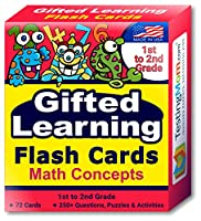 Gifted Testing Flash Cards - Math Concepts for Grade 1 - Grade 2 - Educational Toy Practise for CogAT test, OLSAT test, ITBS, NYC Gifted and Talented, WISC, WPPSI