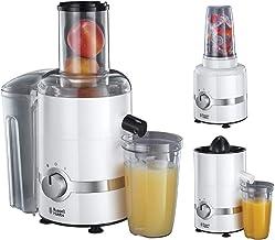 Russell Hobbs 3-in-1 Ultimate Juicer, Sapcentrifuge, Citruspers, Blender, Sap, Smoothies, 700 ml, vulopening, 800 Watt, 22...