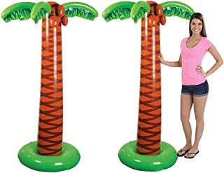 4E's Novelty Pack of 2 Inflatable Palm Trees, Great for Pool and Beach Party