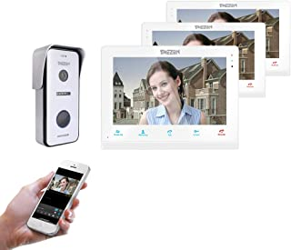 """TMEZON 10"""" IP WIFI Wireless Video Doorbell Intercom System Door Phone Montion Detection Entry System with 1x720P AHD CCTV ..."""
