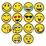 Tukistore Lindos Emoji Parche de Bordado Parches Ropa, Parches Bordados cosidos, Insignia de Parche Bordado,decoración DIY para Ropa