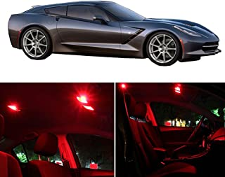 cciyu LED Interior Light Accessories Replacement Package Kit 8 Pack Red Replacement fit for 2005-2013 Chevy Corvette C6