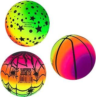 BESPORTBLE 3pcs 16cm Rainbow PVC Playground Balls for Kids Sports Games Handballs Dodgeball Kickball for Kids Adult Indoor...
