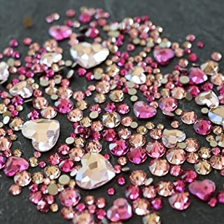Swarovski Flatback Crystals No Hotfix Theme Mix - Hearts   Pack of 260   Small & Wholesale Packs