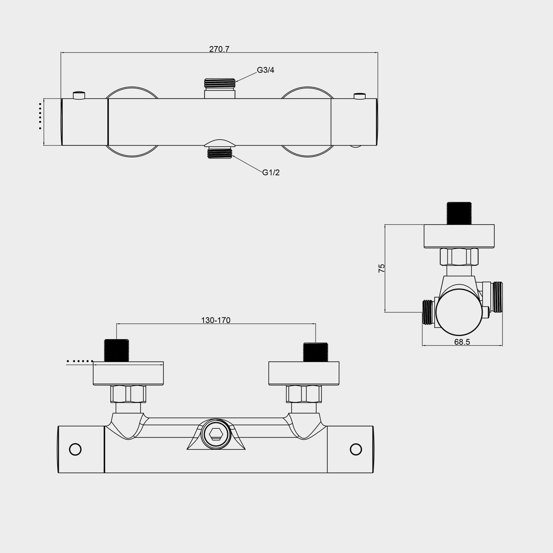 Amzdeal Grifo Termostatico Ducha, Tecnología termostática con el ...